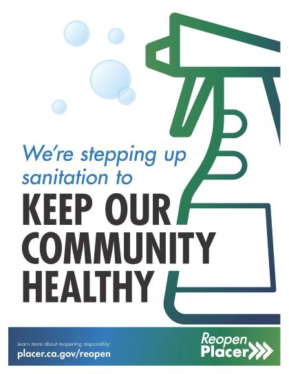 Keeping our community healthy poster from Placer County