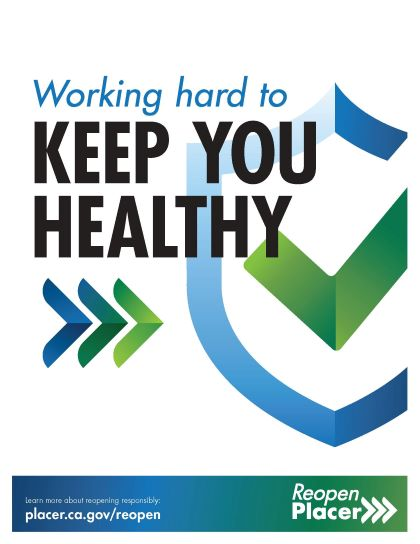 Working hard to keep you healthy poster from Placer County